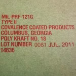 MIL-PRF-121 TII CI - Protect PK Kraft Poly Barrier Material