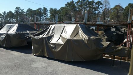 Covers for military equipment and vehicles
