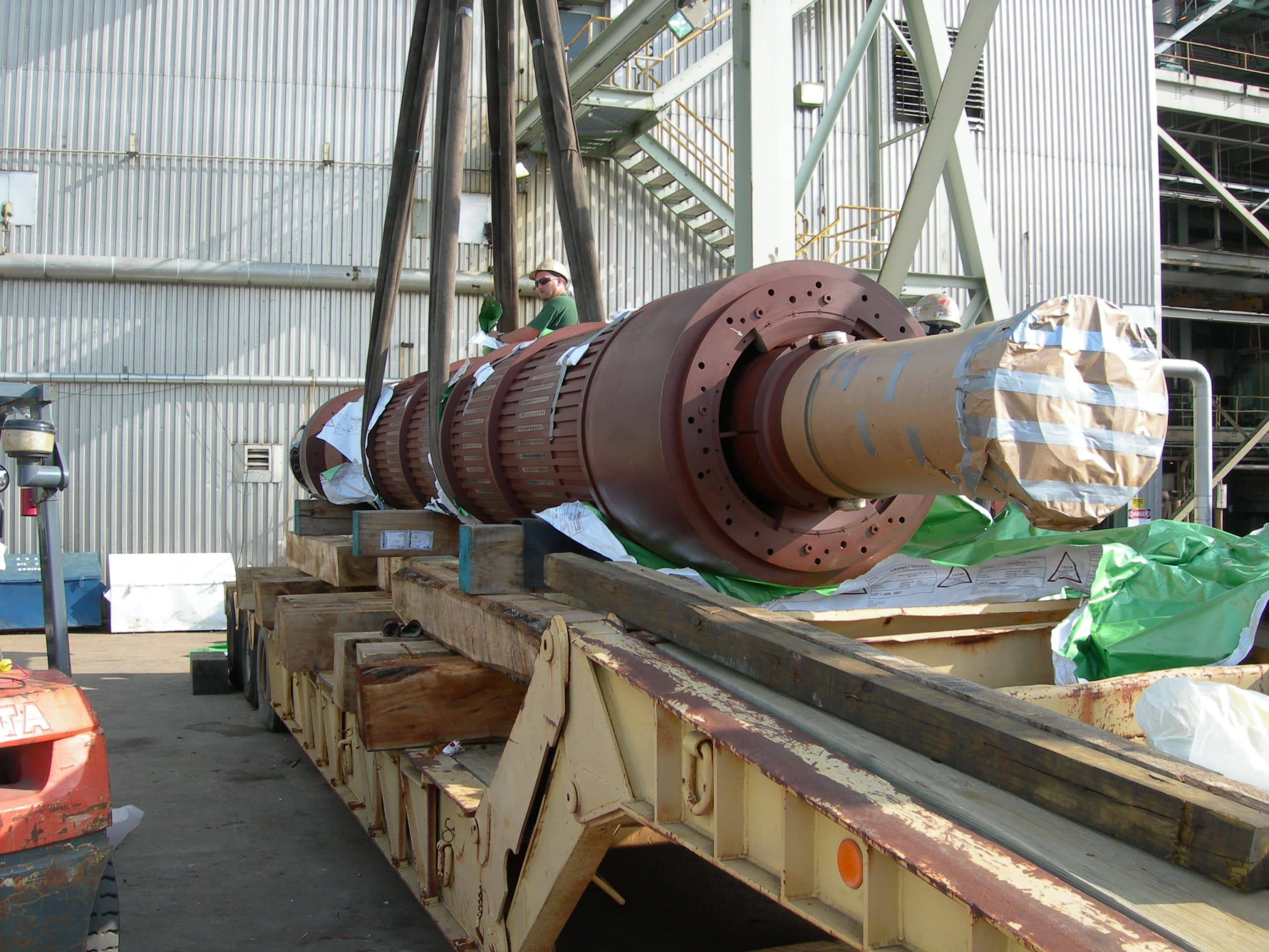 Rotor Packaged for Cross Country Transport - Corrosion Prevention Solution