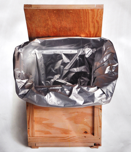 barrier bag in a crate - crate liner