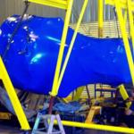 blue shrink wrap - aircraft component